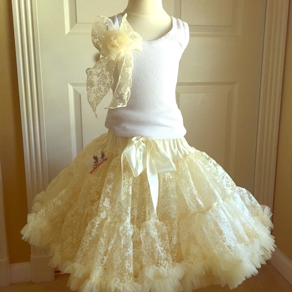 Oopsy DaisyBaby Other | Oopsy Daisy Baby Ivory Snowflske Pettiskirt ...